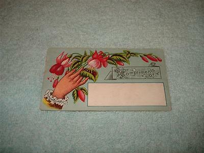 Antique Christmas Present Tag Card
