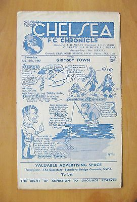 CHELSEA v GRIMSBY TOWN 1946/1947 *VG Condition Football Programme*