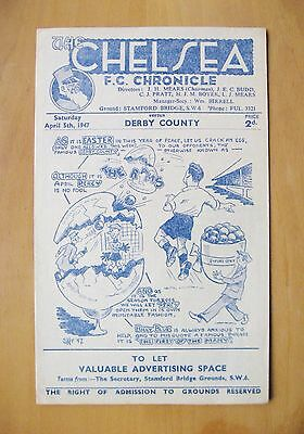 CHELSEA v DERBY COUNTY 1946/1947 *Excellent Condition Football Programme*