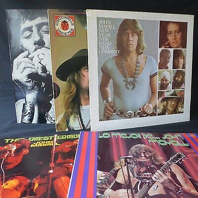 JOHN MAYALL Collection 5LPs JOB LOT New / Last / Edition / Lo Mejor / No. 2 EX