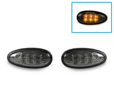 DEPO Black//Clear LED Tail+Side Marker Lights For 03-06 Mitsubishi Lancer Evo 8//9