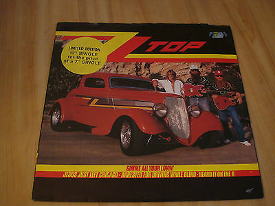 """Zz Top- Gimme All Your Lovin' ( Warner 12"""")"""
