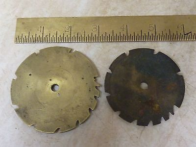 2 GOOD 18th-19th CENTURY 30 HOUR LONGCASE COUNTWHEELS (B)