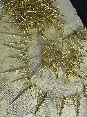 Vintage Plastic Gold Icicle Christmas Tree Garland 108""