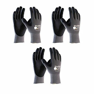 Maxiflex 34-874 Ultimate Nitrile Grip Work Gloves Size Large 3 Pair