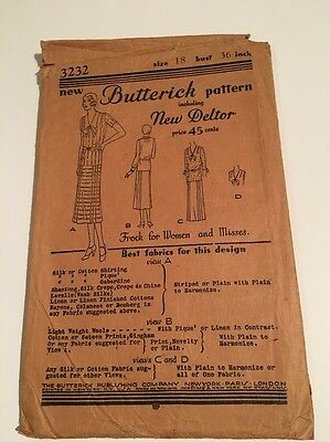 Antique Butterick 1920s Frock Pattern