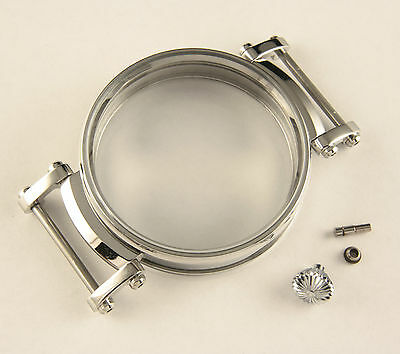 Stainless steel Case 47 mm for Antique Pocket Watch Movements