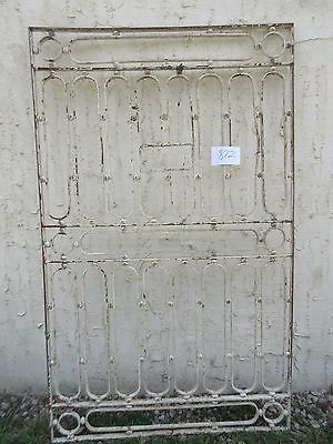 Antique Victorian Iron Gate Window Garden Fence Architectural Salvage #872