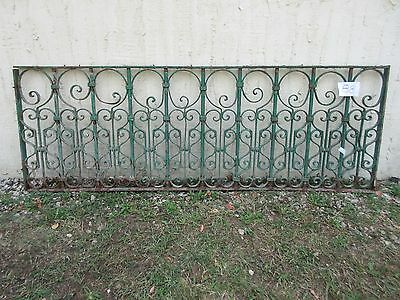 Antique Victorian Iron Gate Window Garden Fence Architectural Salvage #881