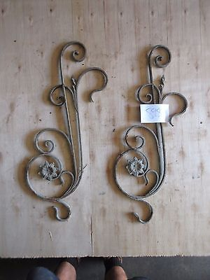 Antique Victorian Iron Gate Window Garden Fence Architectural Salvage #898