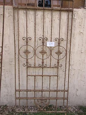 Antique Victorian Iron Gate Window Garden Fence Architectural Salvage #874