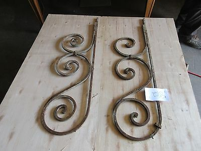 Antique Victorian Iron Gate Window Garden Fence Architectural Salvage #892