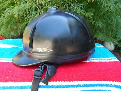 Troxel Legacy Gold Horse Riding Helmet Matte Black Small 6-1/2 to 6-3/4