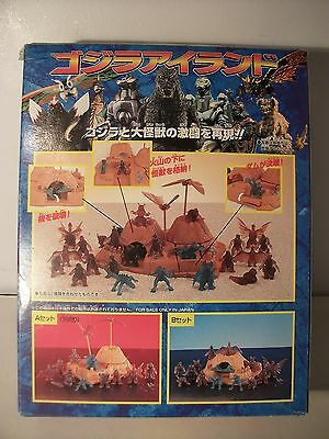 Godzilla 12 mini figure  play set official Japanese  Bandai exclusive set B