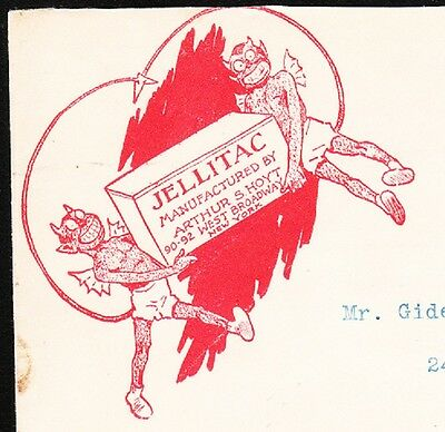 Quack Medicine ? Jellitac WINGED DEVIL Logo Arthur Hoyt New York 1907 Cover 2q