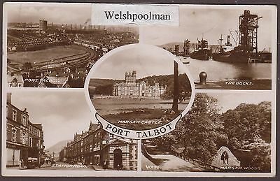Vintage 1949 Port Talbot Multi View Glamorgan South Wales Postcard