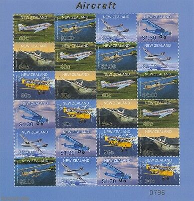 Neuseeland New Zealand - 2001 Limited Edition Aircraft Flugzeuge Kb 1908-13 **