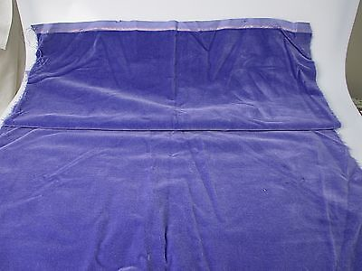Vintage velvet fabric piece Germany cotton 34 in W Lavender