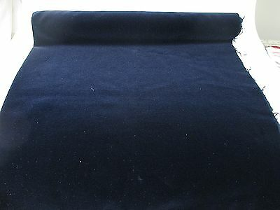 Vintage Velvet Fabric Remnant Germany Cotton 34 in W Midnight blue