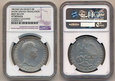 Mexico Augustin I Iturbide 8 Reales 1823 Mo-JM NGC VF Details