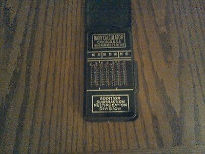 Vintage Baby Calculator Add Subtract Multiply Divide