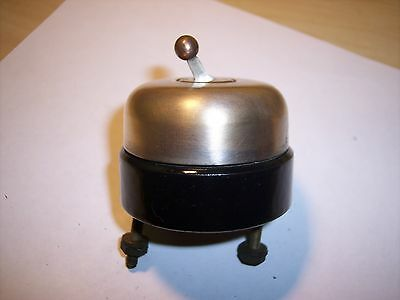 Antique HUBBEL Round White Porcelain & Brass Toggle Switch VINTAGE STEAMPUNK