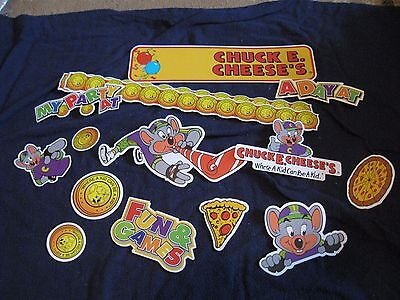 lot of 15 Chuck E. Cheese Die-cuts
