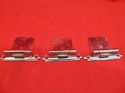 Lot of 3 Vintage Original Amerock  Chrome Replacement Hinges.  Cabinet Door