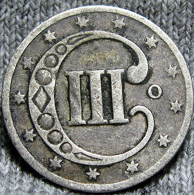 1851-O Silver Three Cent Piece 3cp  -- STUNNING TYPE Coin -- #R855