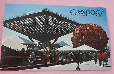 Canada Pavilion Katimavik (Eskimo for Meeting Place) Expo 67 Montreal Postcard