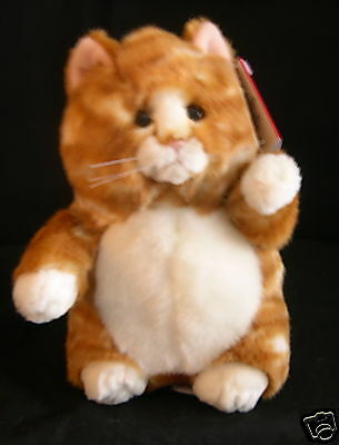 Russ Berrie Large Prudence Cat NEW w TAGS Orange Tiger