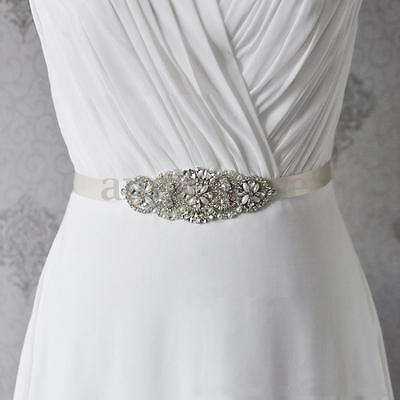 Vintage Crystal Bridal Sash-Rhinestone Wedding Dress Belt-Bridal Sash Ribbon