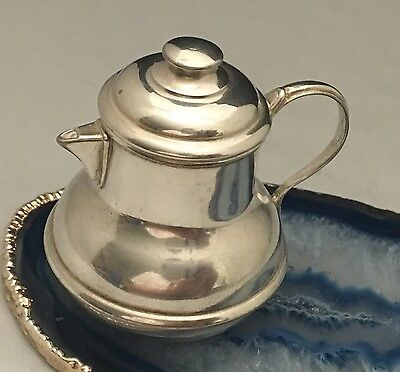 BEAUTY Sterling Silver Lidded Miniature TEAPOT KETTLE Pillbox/Trinket Box -L312