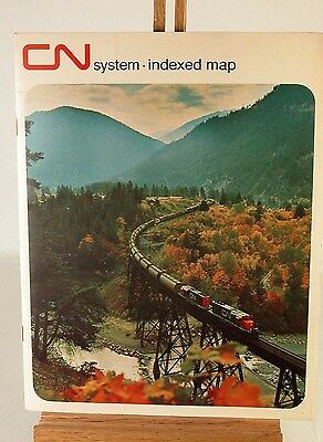 CNR System Index Map Dated 1971 Canadian National Railway Marketing Map