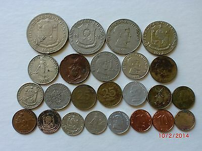 - Philippines - 24 Old & New Coins - Full Range -  Some Rare - 1937-2004 # 21E