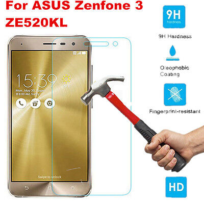 For Asus ZenFone 3 ZE520KL Premium Real Tempered Glass LCD Screen Protector Film