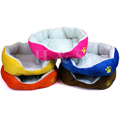 Super Soft Dog Cat Pet Bed Cushion Large Small Kitten Puppy Mat Pink Sofa Medium