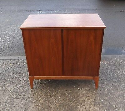 Vintage Danish Walnut Vinyl Record Cabinet   Repolished  Delivery Available