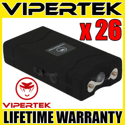 (26) VIPERTEK BLACK VTS-880 Mini Stun Gun - Wholesale Lot