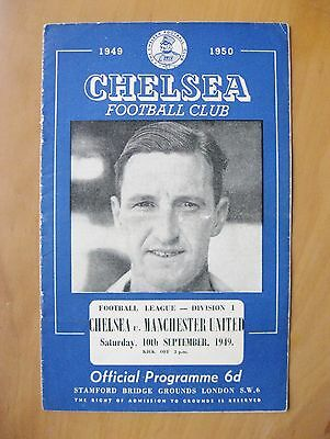 CHELSEA v MANCHESTER UNITED 1949/1950 *VG Condition Football Programme*