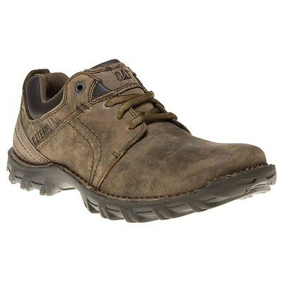 New Mens Caterpillar Tan Emerge Leather Shoes Lace Up