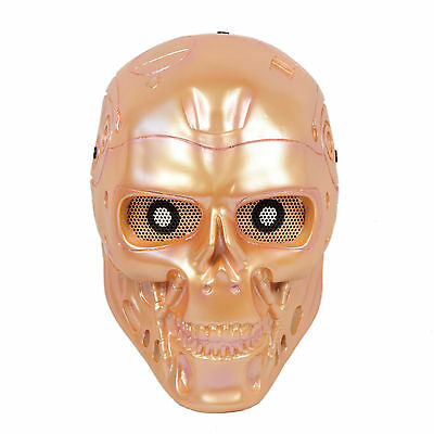 Full Face Eyes Wire Mesh Protection T800 Terminator Skull Mask Airsoft HJ009D