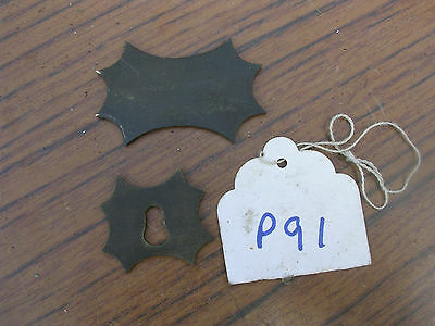 Antique Brass Cartouch & Escutcheon From A Rose Wood Writing Slope
