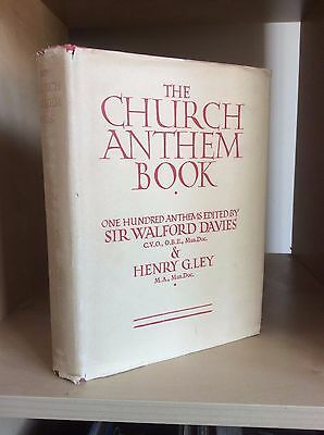 Anglo Catholic Episcopal Anglican CHURCH ANTHEM BOOK Music Choir Davies Ley RARE