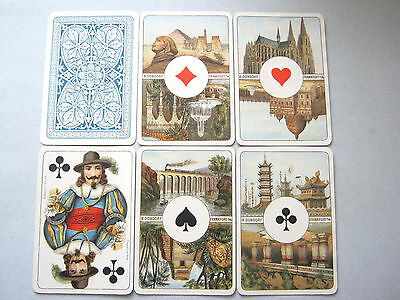 Dondorf L'hombre 40 Card  Deck No Indice 1900 Linen Box Antique Playing Cards