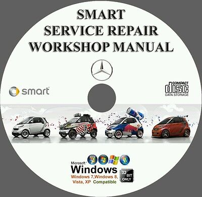 Smart fortwo Pulse Passion City Roadster Brabus Forfour Service & Repair Manual