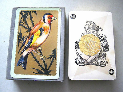GOLDFINCH GILDED DESIGN & EDGES 1930s SEALED ART DECO VINTAGE PLAYING CARDS