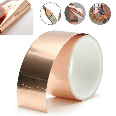 50mmx3m EMI Copper Foil Shielding Tape Conductive Self Adhesive Barrier Guitar