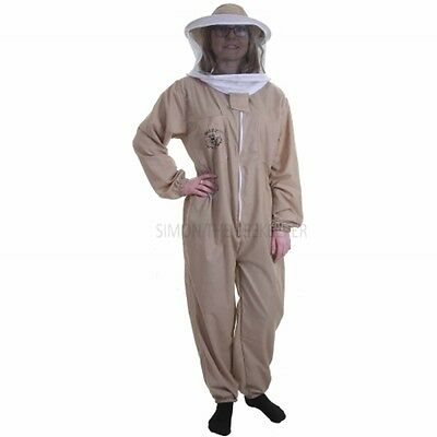 Buzz Basic Beekeeping Suit With Round Veil - Khaki