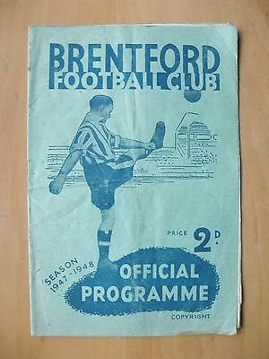 BRENTFORD v MIDDLESBROUGH FA Cup 1947/1948 *Good Condition Football Programme*